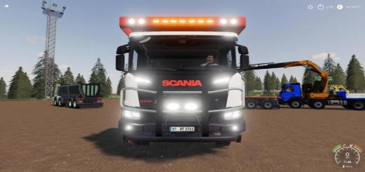 Photo of FS19 – Scania Xt 8X8 Flat Bed V1.1