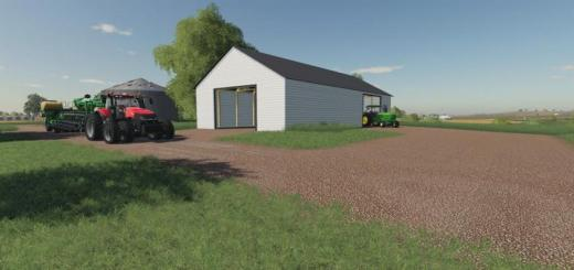 Photo of FS19 – Small White Us Shed (Prefab) V1