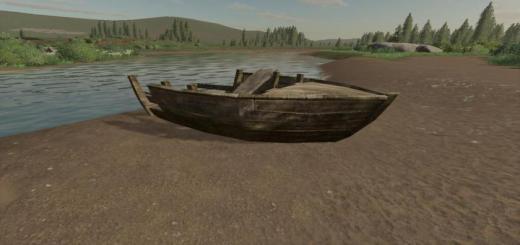 Photo of FS19 – Wrecked Boat (Prefab) V1