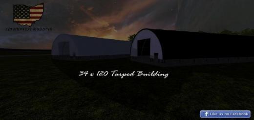 Photo of FS19 – 34 X 120 Tarped Building V1