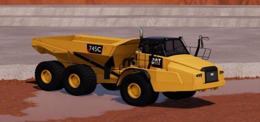 Photo of FS19 – 4Mr Cat 745C V4.9