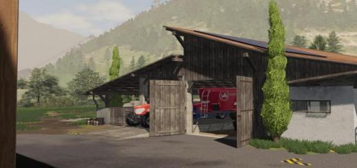 Photo of FS19 – Alpine Cow Barn V1