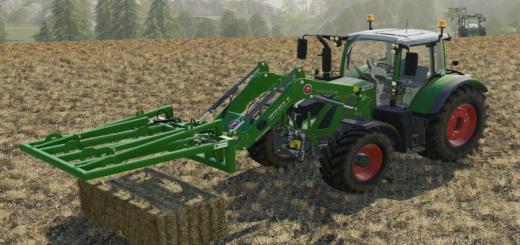 Photo of FS19 – Bressel And Lade Square Bale Tongs V1