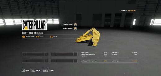 Photo of FS19 – Cat D8-T With Triripper V1.2