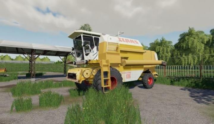 FS19 - Claas Dominator 106 Yellow V1