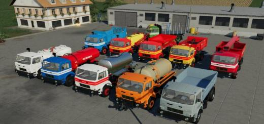 Photo of FS19 – D-754 Truck Pack V1.4