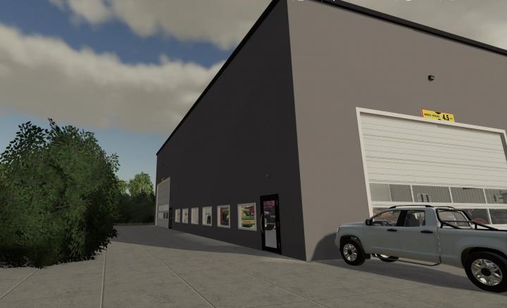 FS19 - Large Mechanic Shop V1.3
