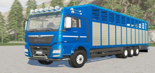 Photo of FS19 – Man Tgx Livestock Truck V2