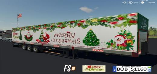 Photo of FS19 – Merry Christmas Trailer V1