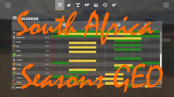 FS19 - Seasons Geo South Africa V1