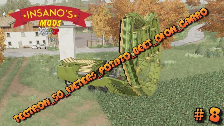 FS19 - Tectron 50 Meters Potato Beet Oion Carrot V1
