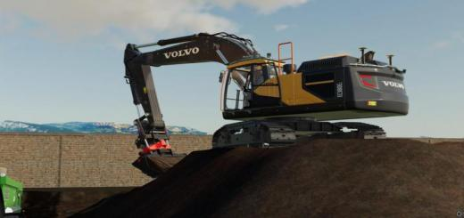 Photo of FS19 – Volvo Ec 380 With Much Extra Lights V1