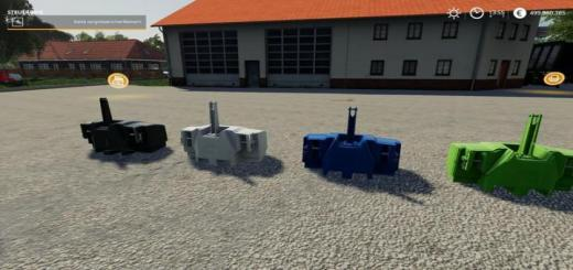 Photo of FS19 – Xxl Weights Pack V2.1.2.2
