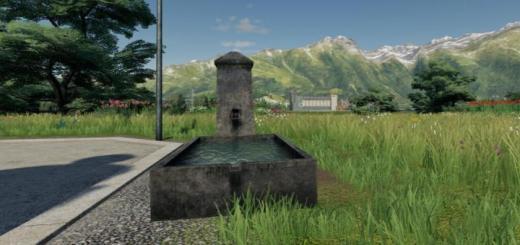 Photo of FS19 – Concrete Fountain V1