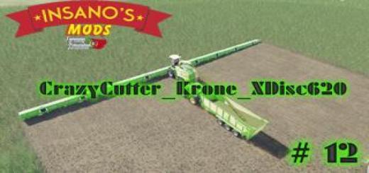 Photo of FS19 – Crazycutter Krone Xdisc620 V1