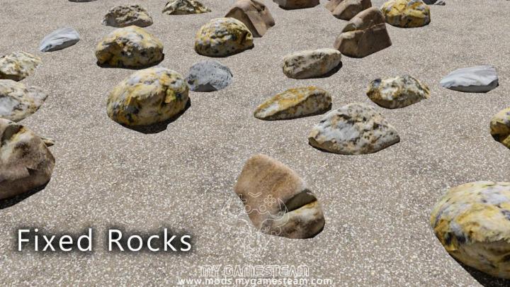 FS19 - Dynamic Rocks V1