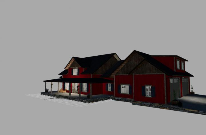 FS19 - Emr Farmhouse Retexture In Red V2