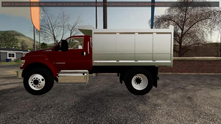 FS19 - F750 Dump Truck V1