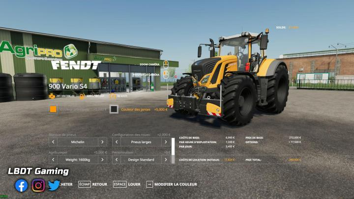 FS19 - Fendt 900 Vario S4 - Lbdt Gaming Edition V1