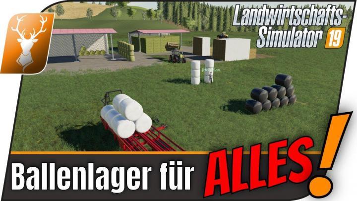 FS19 - Hot Ballenlager (Mp/Fe/He) V1.1