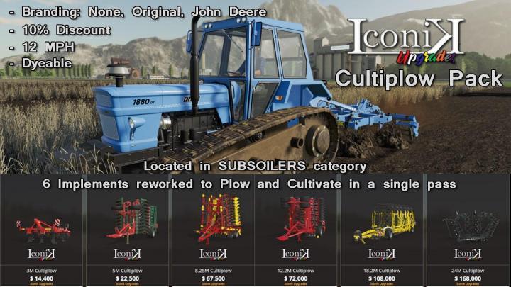 FS19 - Iconik Cultiplow Pack V1