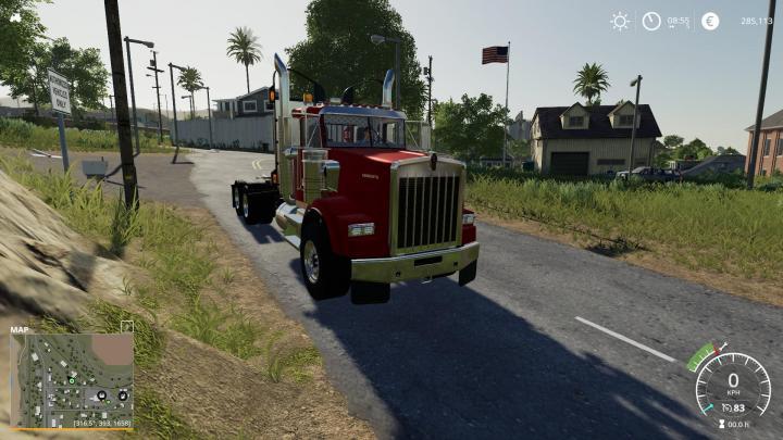 FS19 - Kenworth T800H Tandem V1