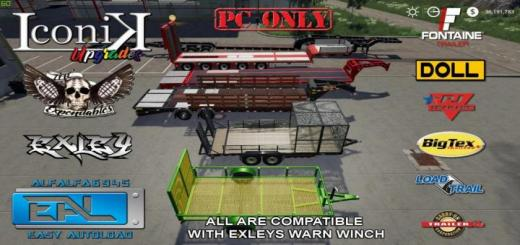 Photo of FS19 – Landscape Trailer With Other Trailers V1