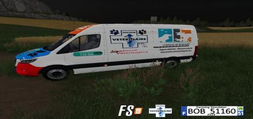 Photo of FS19 – Mercedes Emergency Animals V3