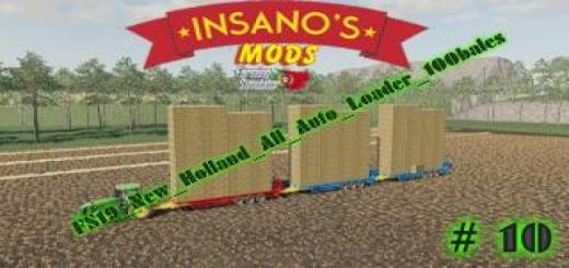 Photo of FS19 – New Holland All Auto Loader 100 Bales V1