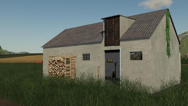 FS19 - Old Garage For Your Farm V1