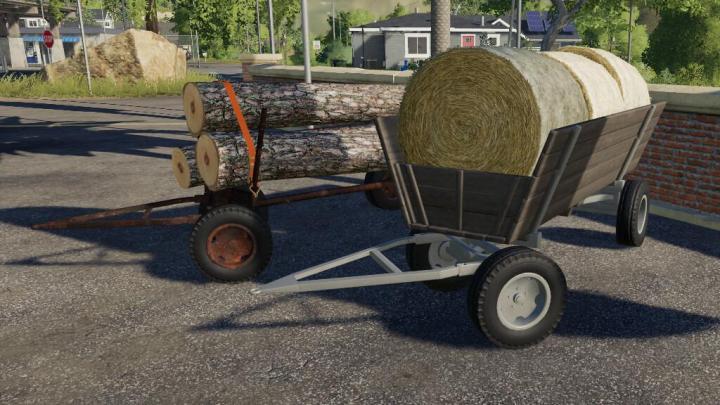FS19 - Old Wooden Wagon V1