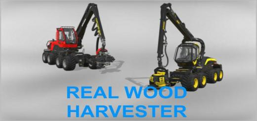 Photo of FS19 – Real Wood Harvester V1