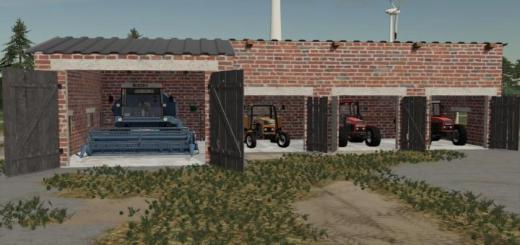 Photo of FS19 – Red Brick Garage V1.1