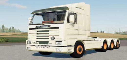 Photo of FS19 – Scania 143M 500 Hooklift V2