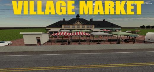 Photo of FS19 – Village Market V1.1