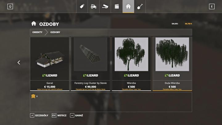 FS19 - Willows Trees V1