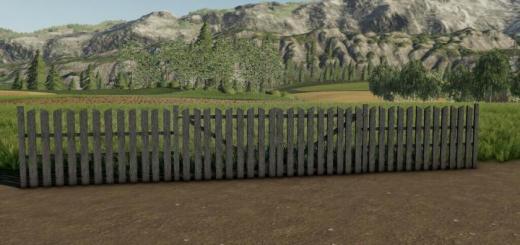 Photo of FS19 – Wooden Fence Pack V1