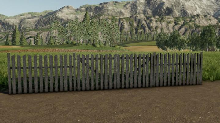 FS19 - Wooden Fence Pack V1