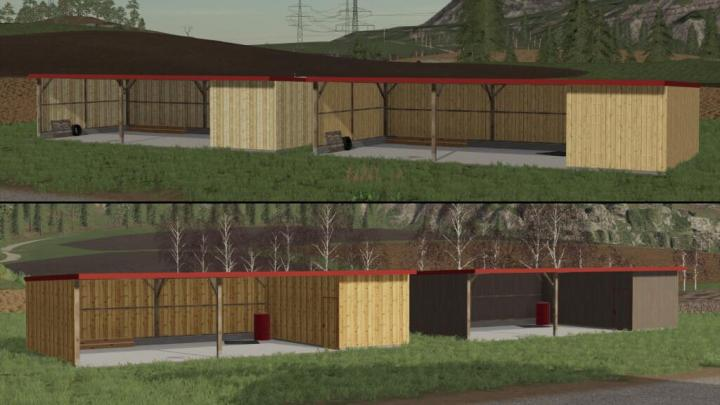 FS19 - Wooden Shelter Pack V1