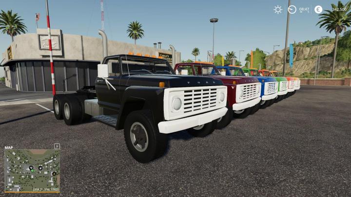 FS19 - 1975 Ford F600 Dual Axle Semi V1