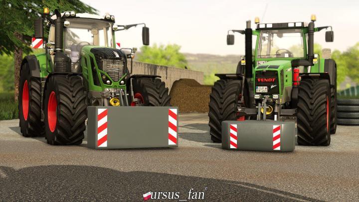 FS19 - 2 Gewichte Je 2000Kg And 2500Kg V1