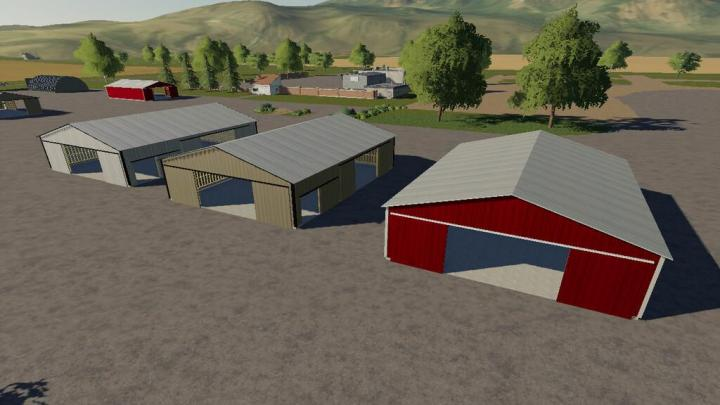 FS19 - American Style Placeable Shed Pack V1