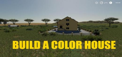 Photo of FS19 – Build A Color House V1