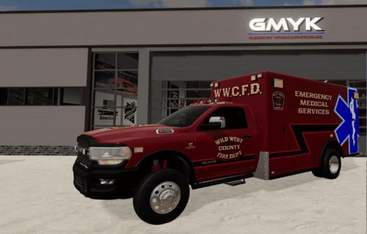 FS19 - Dodge Ram 3500 Ambulance V1
