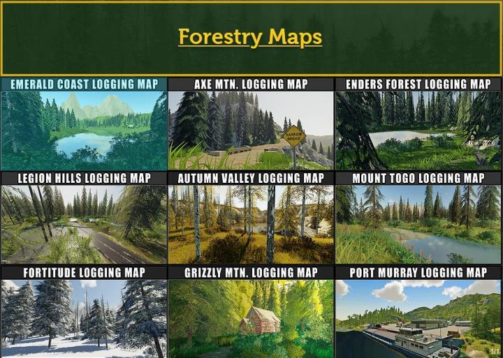FS19 - Fdr Logging Mods Pack Feb - 2021 V1