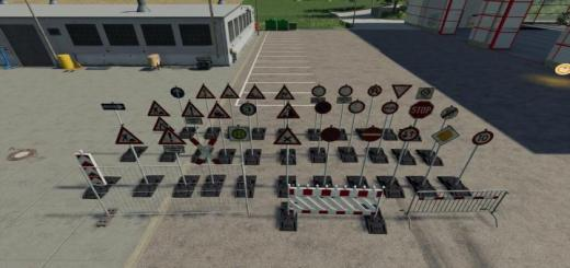 Photo of FS19 – German Road Signs V1.2