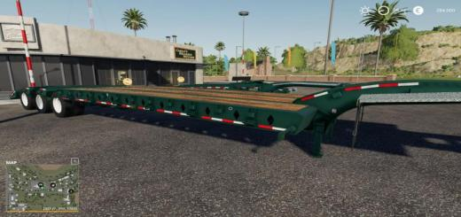 Photo of FS19 – Load King 50 Ton Oilfield Trailer W/Jeep And Booster V1