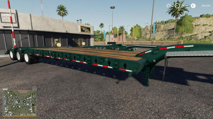 FS19 - Load King 50 Ton Oilfield Trailer W/Jeep And Booster V1