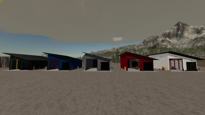 FS19 - Medium Pull Through Workshop With Lift Pack V1.0.0.2