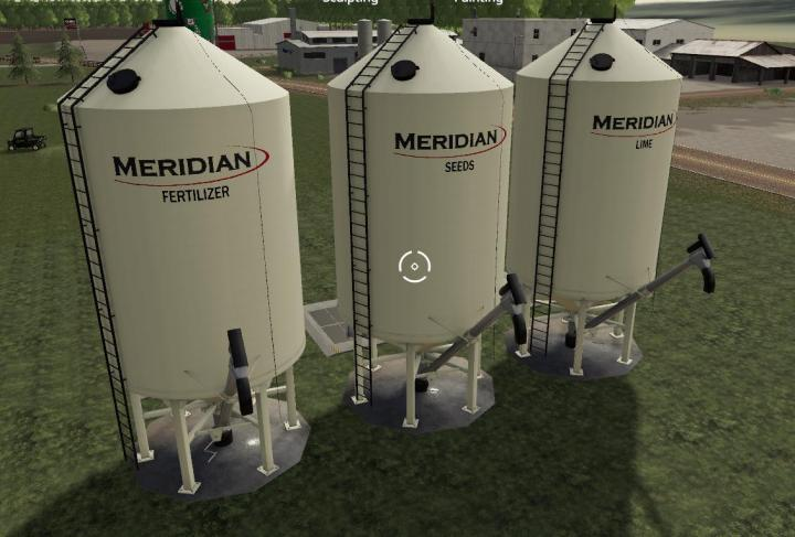 FS19 - Meridian Seed/Fert/Lime Silos V1